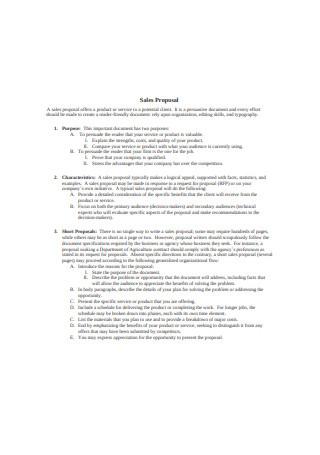 46 Sample Sales Proposals In Pdf Ms Word