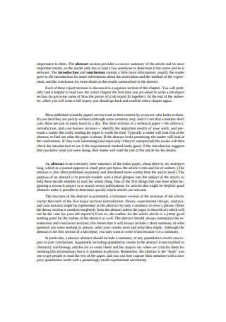 Software Lab Report Sample