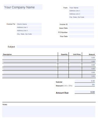 Standard Invoice