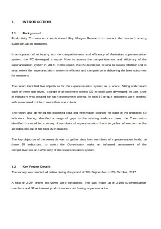 Superannuation Technical Report