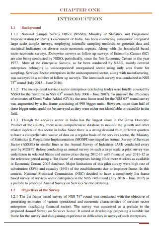 Technical Report on Service Sector