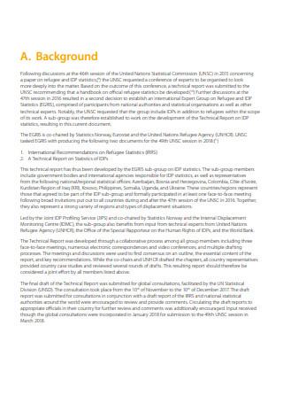 Technical Report on Statistics
