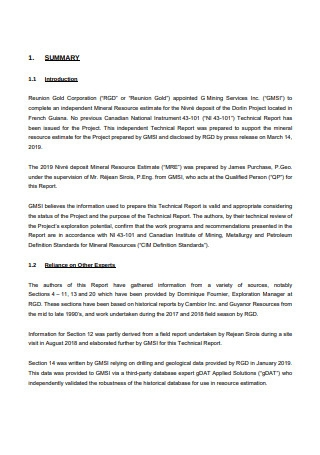 Technical Report on the Mineral Resource