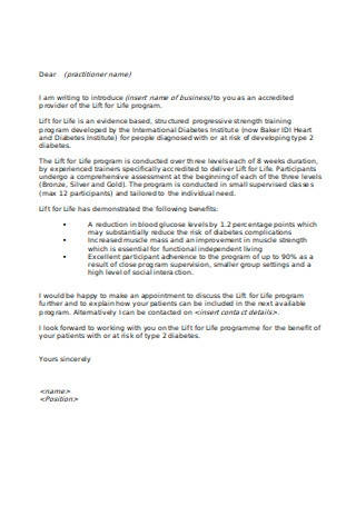 Template Letter for Business Introduction