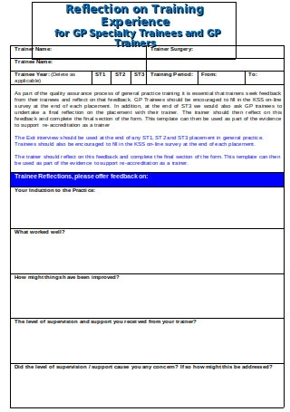 Trainee Exit Interview Form