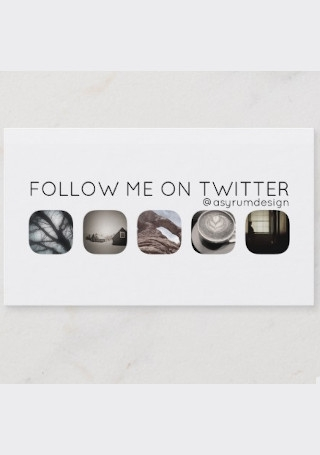 Twitter Followers Calling Card