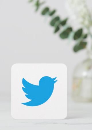Twitter Logo Promo Calling Card