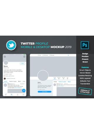 Twitter Profile Mockup