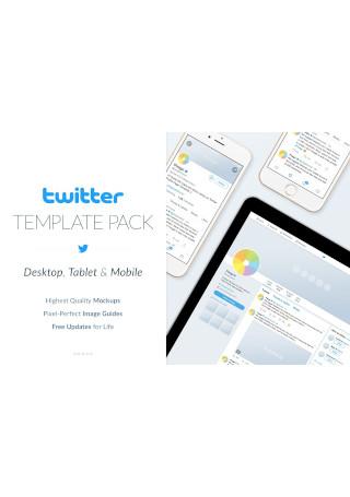 Twitter Social Media Template Pack
