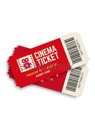 Two Cinema Vector Tickets