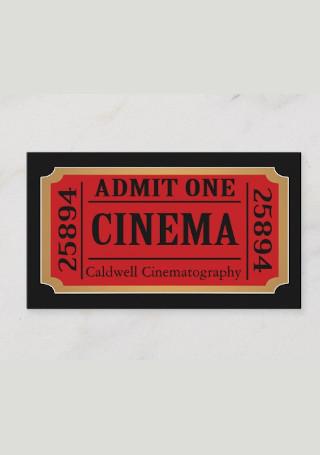 Vintage Style Movie Ticket