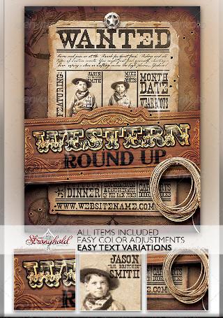 Wild West Event Flyer