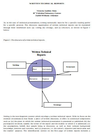 Written Technical Report