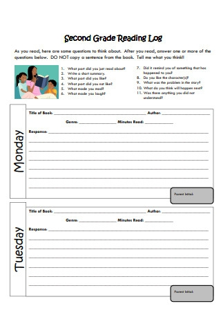 2nd Grade Reading Log