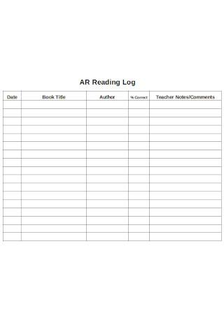 AR Reading Log