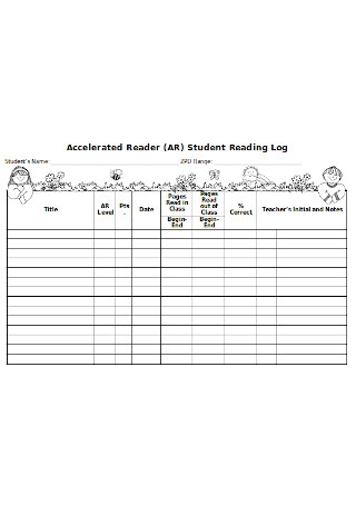 Accelerated Reader AR Student Reading Log