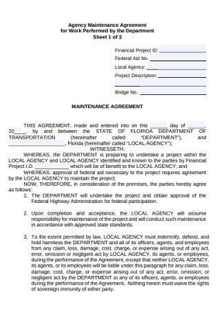 Agency Work Maintanance Agreement