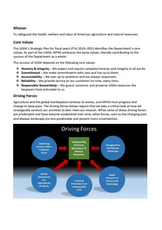 Agriculture Strategic Plan