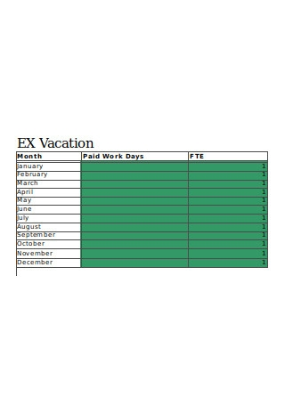 Annual Vacation Tracker Template