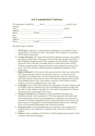 Art Commission Contract