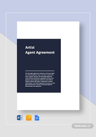 Artist Agent Agreement Template1
