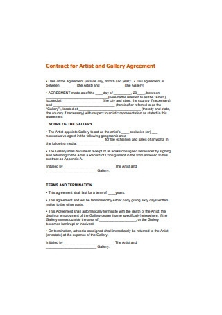 Artist Contract Agreement Format