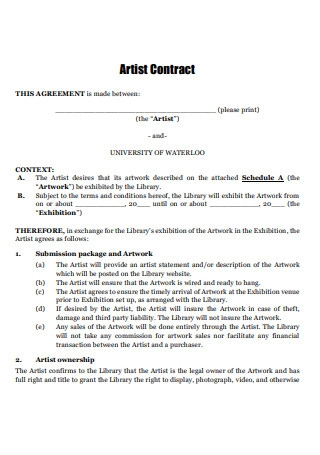 Artist Contract Template1