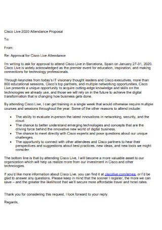 Attendance Proposal Letter