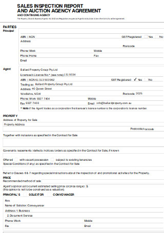 Auction Agency Agreement