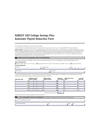 Automatic Payroll Deduction Form