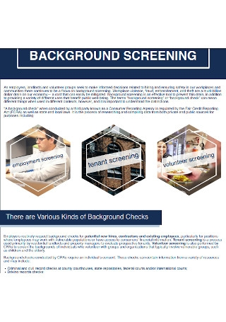 Background Screenings and Check