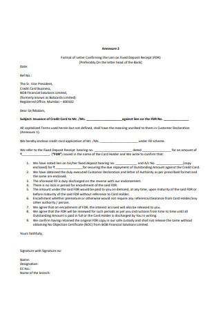 Bank Confirmation Letter Sample