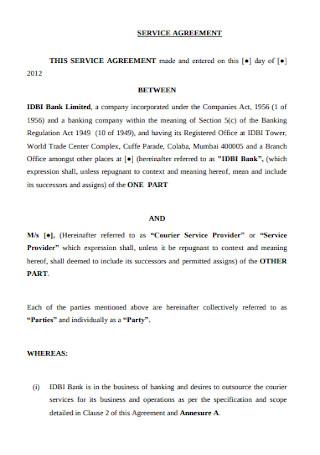 Bank Service Agreement