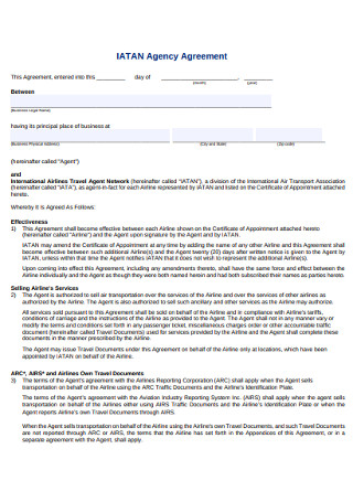 Basic Agency Agreement
