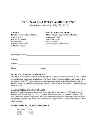 Basic Artist Agreement Format