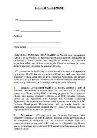 Basic Broker Agreement Format