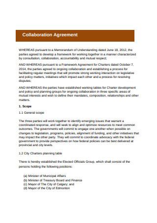 Basic Collaboration Agreement Format