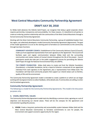 Basic Community Partnership Agreement