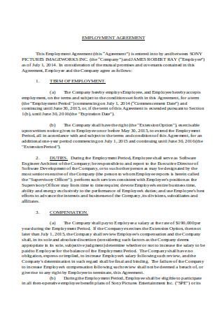 Basic Employment Agreement