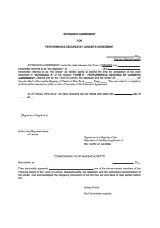 Basic Extension Agreement Format