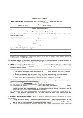 Basic Lease Agreement Format