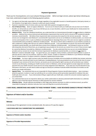 Basic Payment Agreement Format