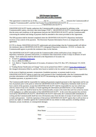 Basic Payment Agreement