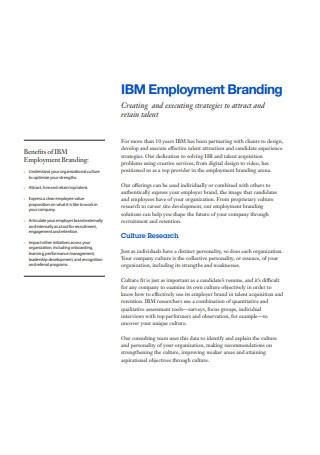 Benefits of Employment Branding