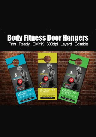 Body Fitness Door Hanger InDesign