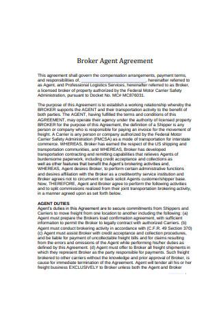 Broker Agent Agreement