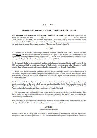 52 Sample Broker Agreements In Pdf Ms Word