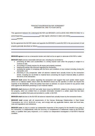 Broker Buyer Agreement