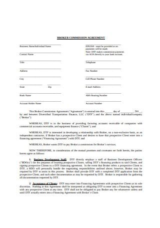 Broker Commission Agreement