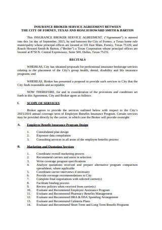 Broker Service Agreement